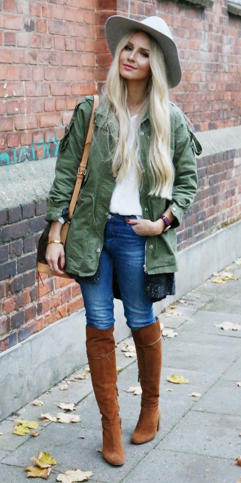blue-med-skinny-jeans-green-olive-jacket-coat-parka-cognac-shoe-boots-hat-blonde-fall-winter-weekend.jpg