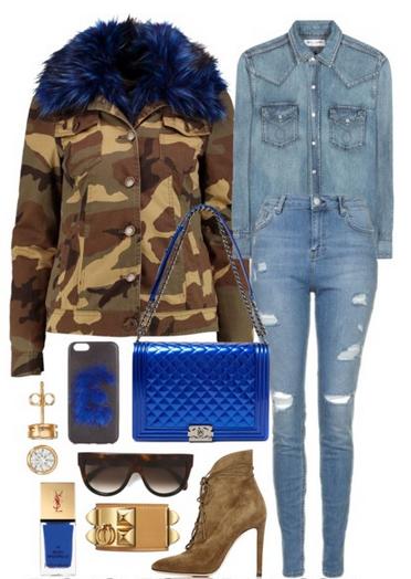 blue-light-skinny-jeans-blue-light-collared-shirt-parka-camo-print-blue-bag-green-shoe-booties-sun-studs-nail-green-olive-jacket-coat-fall-winter-dinner.jpg
