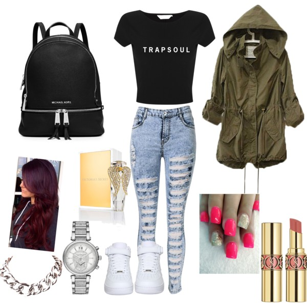 blue-light-skinny-jeans-black-tee-green-olive-jacket-coat-parka-black-bag-pack-watch-chain-necklace-white-shoe-sneakers-nail-howtowear-fashion-style-outfit-fall-winter-weekend.jpg