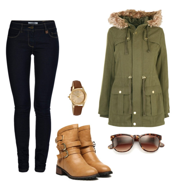 blue-navy-skinny-jeans-green-olive-jacket-coat-parka-tan-shoe-booties-watch-sun-howtowear-fashion-style-outfit-fall-winter-weekend.jpg
