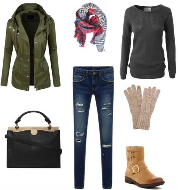 blue-navy-skinny-jeans-grayd-sweater-green-olive-jacket-coat-red-scarf-howtowear-fashion-style-outfit-fall-winter-gloves-print-utility-parka-cognac-shoe-booties-black-bag-lunch.jpg