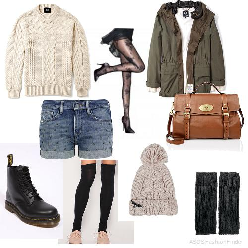 blue-light-shorts-white-sweater-green-olive-jacket-coat-parka-howtowear-fashion-style-outfit-fall-winter-cognac-bag-gloves-legwarmers-black-tights-beanie-black-shoe-booties-denim-weekend.jpg