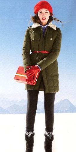 black-leggings-red-bag-gloves-beanie-belt-parka-socks-black-shoe-booties-jcrew-green-olive-jacket-coat-puffer-fall-winter-hairr-lunch.jpg
