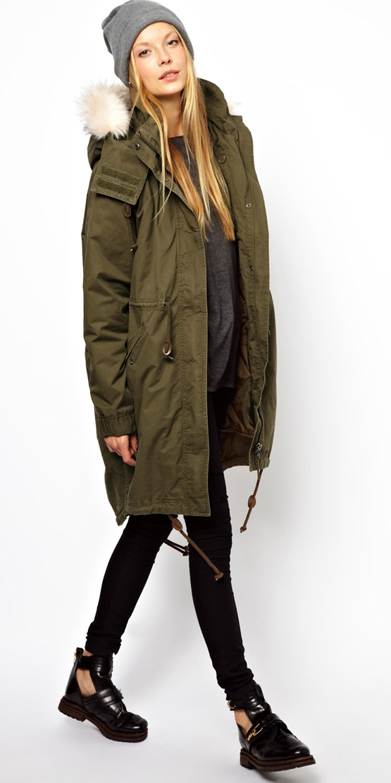 black-skinny-jeans-grayd-sweater-green-olive-jacket-coat-parka-beanie-black-shoe-booties-howtowear-fashion-style-outfit-blonde-fall-winter-weekend.jpg