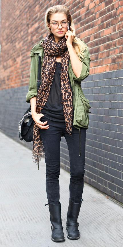 black-skinny-jeans-camel-scarf-leopard-print-green-olive-jacket-coat-parka-blonde-black-shoe-boots-jessicahart-fall-winter-weekend.jpg