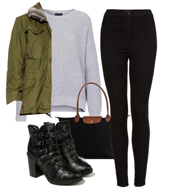 black-skinny-jeans-grayl-sweater-green-olive-jacket-coat-parka-black-bag-black-shoe-booties-howtowear-fashion-style-outfit-fall-winter-weekend.jpg