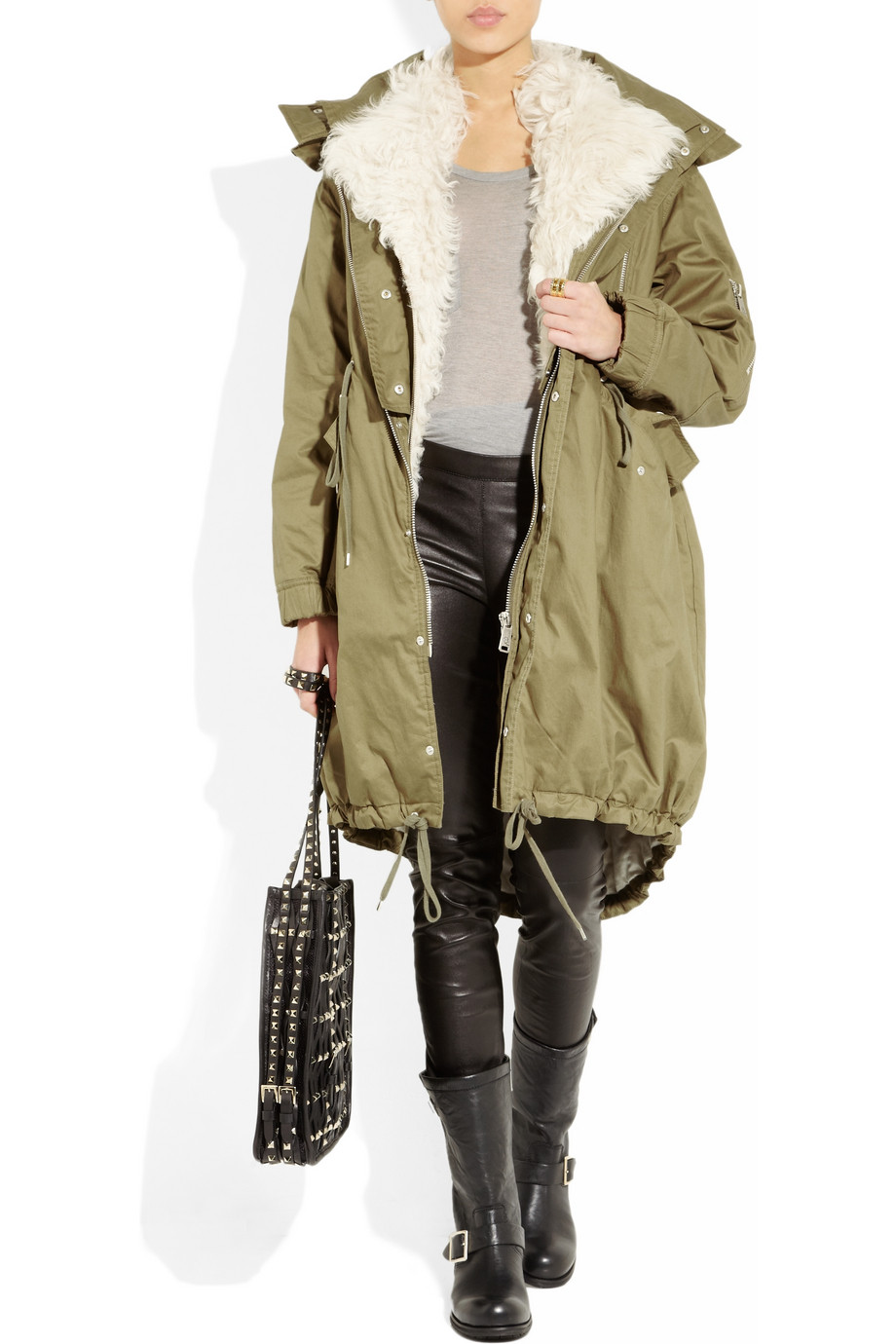 black-skinny-jeans-grayl-sweater-green-olive-jacket-coat-howtowear-fashion-style-outfit-fall-winter-parka-black-shoe-boots-black-bag-leather-weekend.jpg
