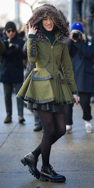 black-tights-black-shoe-brogues-green-olive-jacket-coat-parka-fall-winter-outfit-lunch.jpg