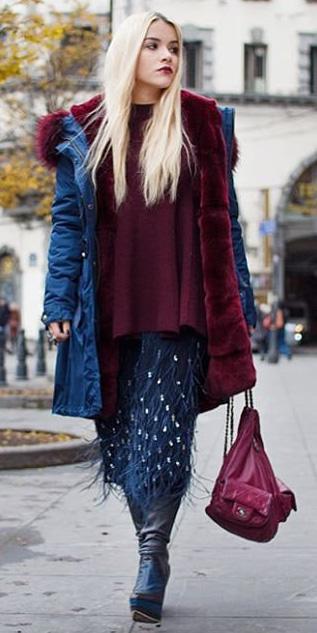 blue-navy-midi-skirt-burgundy-sweater-blonde-blue-shoe-boots-burgundy-bag-blue-navy-jacket-coat-parka-fall-winter-lunch.jpeg