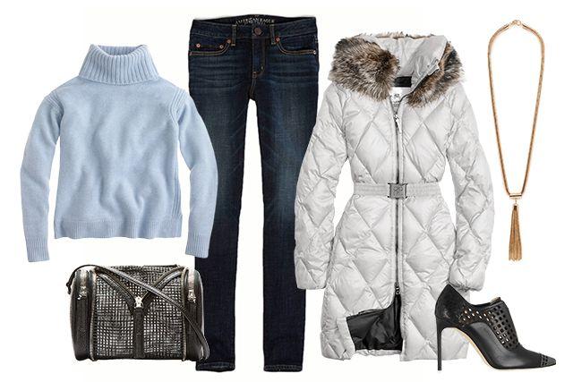 blue-navy-skinny-jeans-blue-light-sweater-turtleneck-necklace-pend-black-shoe-booties-black-bag-parka-white-jacket-coat-puffer-fall-winter-lunch.jpg