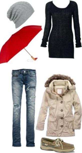 blue-med-skinny-jeans-black-sweater-white-jacket-coat-parka-tan-shoe-flats-beanie-rain-howtowear-fashion-style-outfit-fall-winter-weekend.jpg