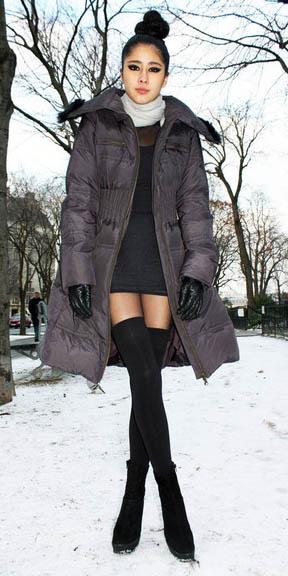 black-dress-grayd-jacket-coat-puffer-white-scarf-black-shoe-booties-black-socks-fall-winter-parka-gloves-thighhigh-mini-asian-bun-brunette-dinner.jpg