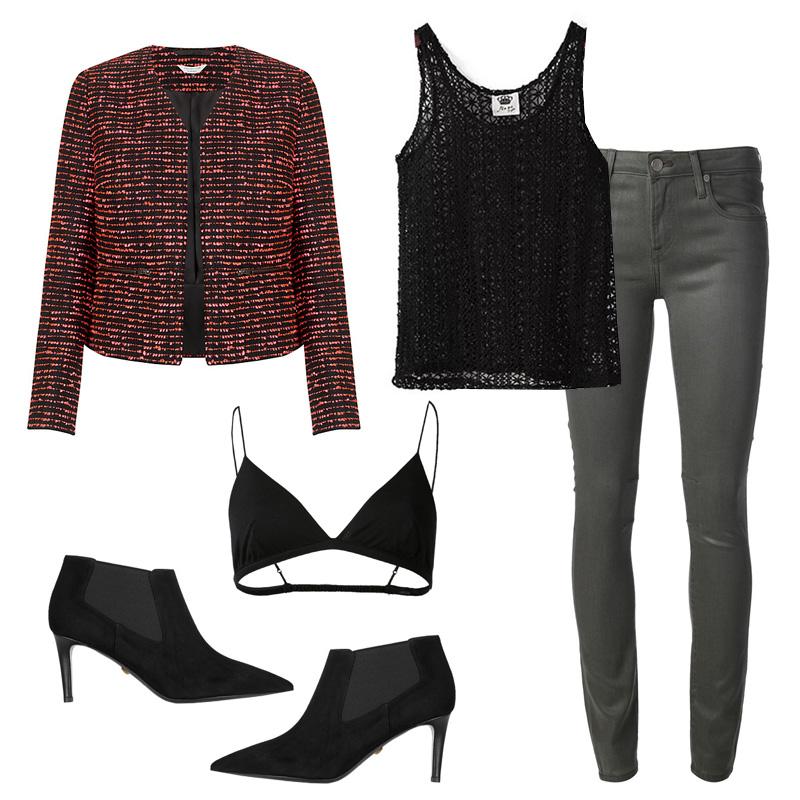 grayd-skinny-jeans-black-top-tank-black-bralette-black-shoe-booties-tweed-lace-red-jacket-lady-fall-winter-dinner.jpg