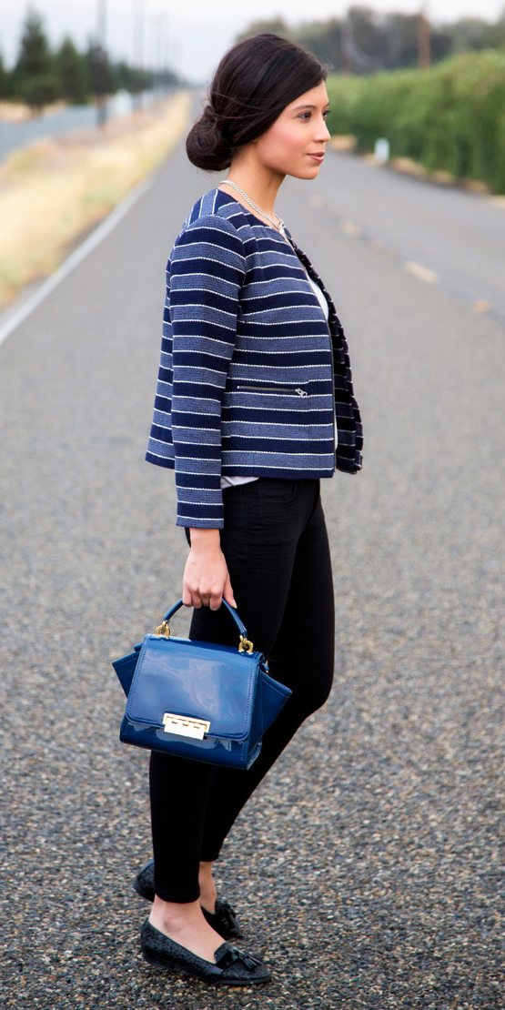 black-skinny-jeans-blue-bag-brun-bun-black-shoe-loafers-blue-med-jacket-lady-fall-winter-lunch.jpg