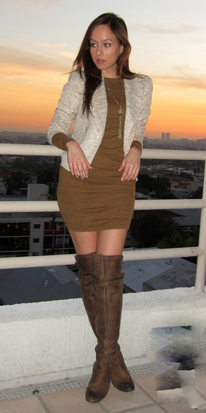 camel-dress-bodycon-white-jacket-lady-hairr-brown-shoe-boots-otk-fall-winter-dinner.jpg