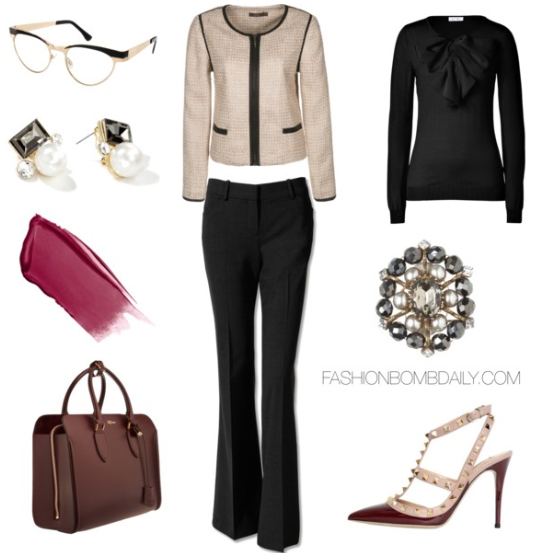 black-wideleg-pants-black-top-blouse-white-jacket-lady-burgundy-bag-burgundy-shoe-pumps-studs-howtowear-fashion-style-outfit-fall-winter-work.jpg
