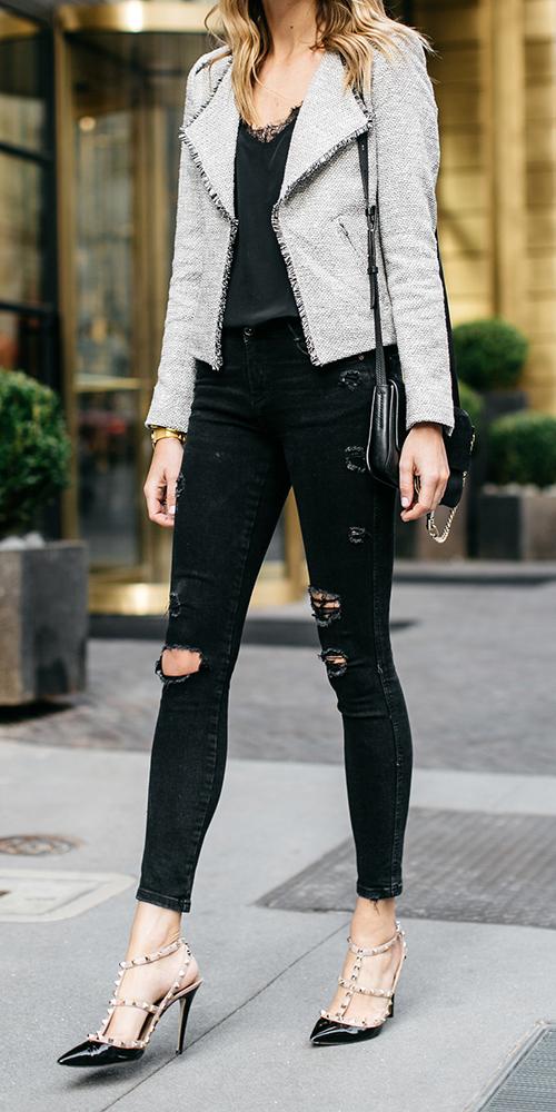 black-skinny-jeans-black-shoe-pumps-black-cami-blonde-grayl-jacket-lady-fall-winter-dinner.jpg