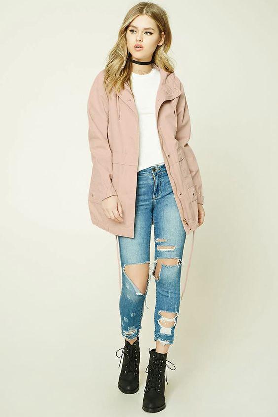 blue-light-skinny-jeans-white-tee-choker-pink-light-jacket-utility-black-shoe-booties-blonde-fall-winter-weekend.jpg