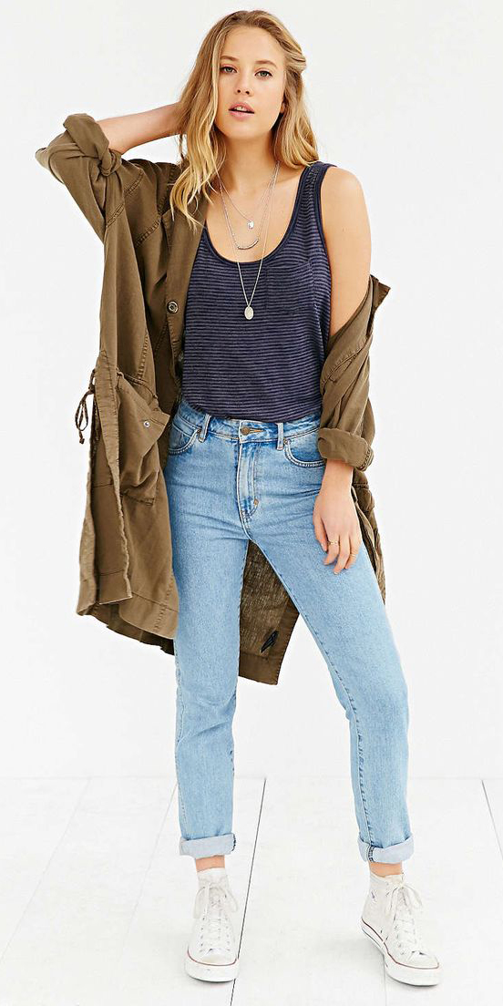 blue-light-skinny-jeans-blue-navy-top-tank-green-olive-jacket-utility-white-shoe-sneakers-necklace-blonde-spring-summer-weekend.jpg