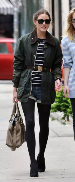 blue-med-shorts-black-tee-stripe-belt-outfit-fall-winter-oliviapalermo-green-olive-jacket-utility-pony-pearl-studs-tan-bag-black-tights-black-shoe-booties-denim-hairr-l.jpg