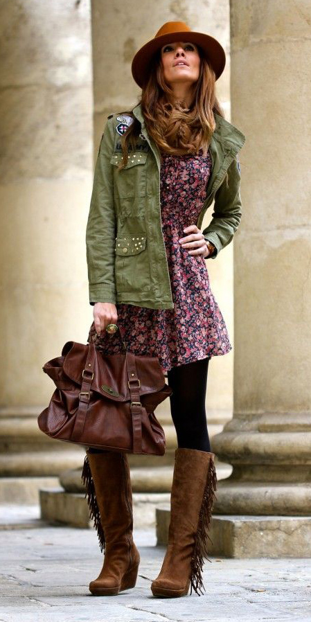 green-olive-jacket-utility-hat-hairr-brown-bag-cognac-shoe-boots-black-tights-fall-winter-dress-weekend.jpg