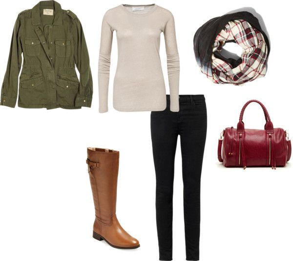 black-skinny-jeans-white-sweater-green-olive-jacket-utility-white-scarf-plaid-cognac-shoe-boots-red-bag-fall-winter-weekend.jpg