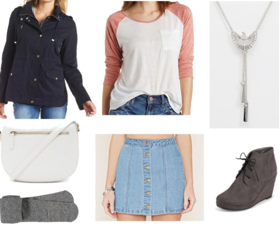 blue-light-mini-skirt-o-peach-tee-blue-navy-jacket-utility-rain-howtowear-fashion-style-outfit-spring-summer-gray-tights-baseball-anorak-wedge-gray-shoe-booties-necklace-white-bag-lunch.jpg