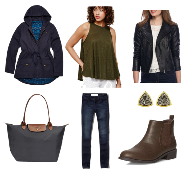 blue-navy-skinny-jeans-green-olive-top-black-jacket-moto-howtowear-fashion-outfit-spring-summer-blue-navy-jacket-utility-anorak-rain-studs-tote-brown-shoe-booties-travel-black-bag-weekend.jpg