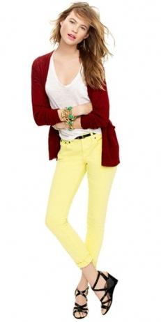 yellow-skinny-jeans-white-tee-red-cardiganl-black-shoe-sandalw-belt-bracelet-jcrew-howtowear-fashion-style-outfit-hairr-spring-summer-lunch.jpg