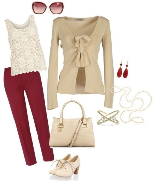 red-slim-pants-white-top-lace-tan-cardigan-white-bag-white-shoe-booties-earrings-sun-spring-summer-lunch.jpg