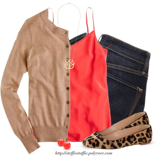 blue-navy-skinny-jeans-red-cami-studs-necklace-pend-tan-shoe-flats-leopard-print-tan-cardigan-fall-winter-lunch.jpg
