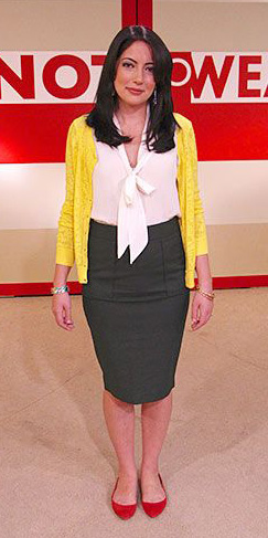 grayd-pencil-skirt-white-top-blouse-red-shoe-flats-yellow-cardigan-spring-summer-brun-work.jpg