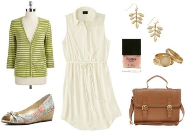 white-dress-green-light-cardigan-cognac-bag-white-shoe-flats-nail-howtowear-fashion-style-outfit-spring-summer-shirt-wedges-earrings-office-work.jpg