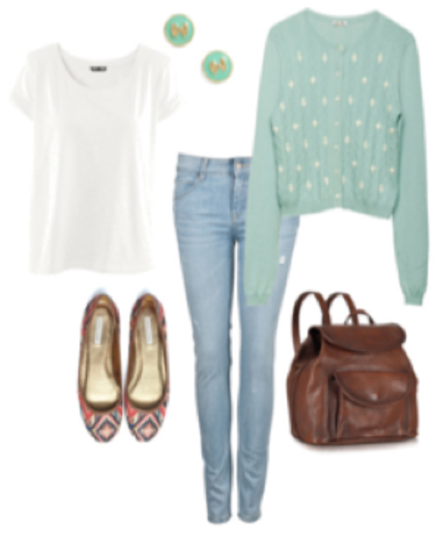 blue-light-skinny-jeans-white-tee-howtowear-style-fashion-spring-summer-green-light-cardigan-brown-bag-pack-studs-dot-lunch.jpg