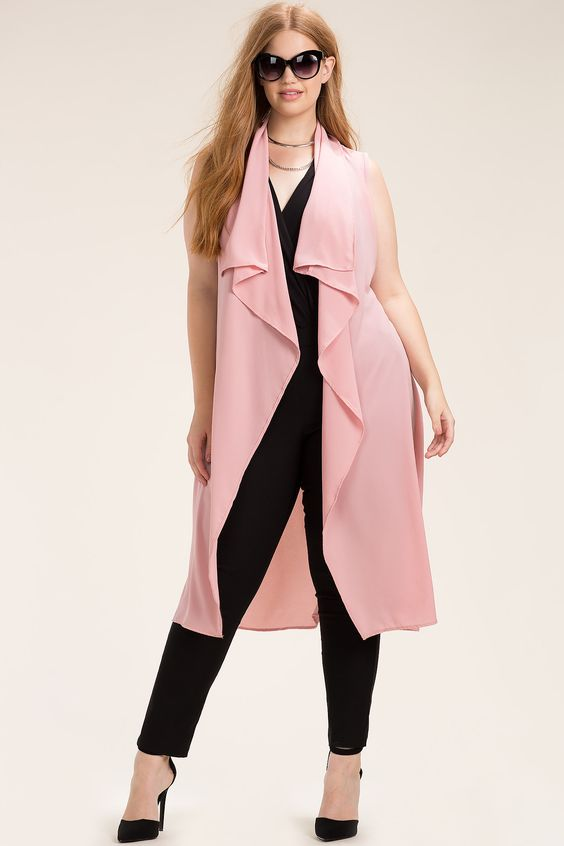 black-slim-pants-black-top-choker-hairr-sun-black-shoe-pumps-pink-light-vest-knit-spring-summer-dinner.jpg