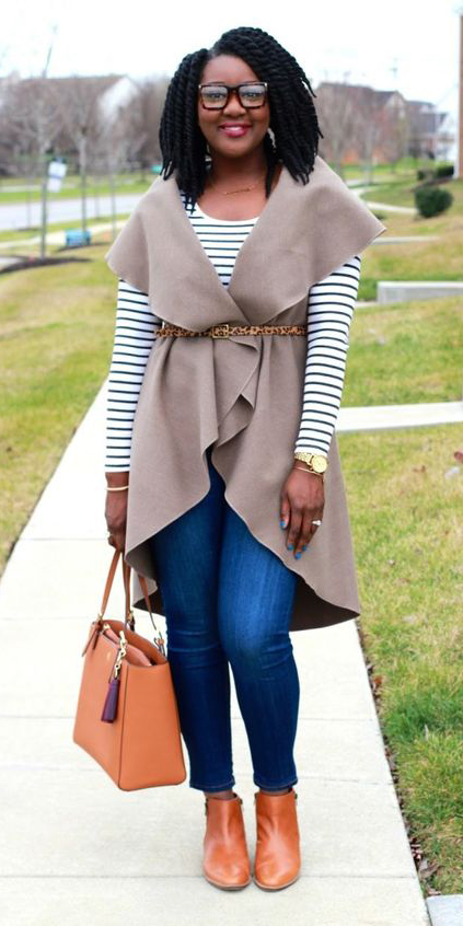 black-tee-stripe-belt-leopard-print-cognac-bag-cognac-shoe-booties-blue-med-skinny-jeans-tan-vest-knit-brun-fall-winter-lunch.jpg