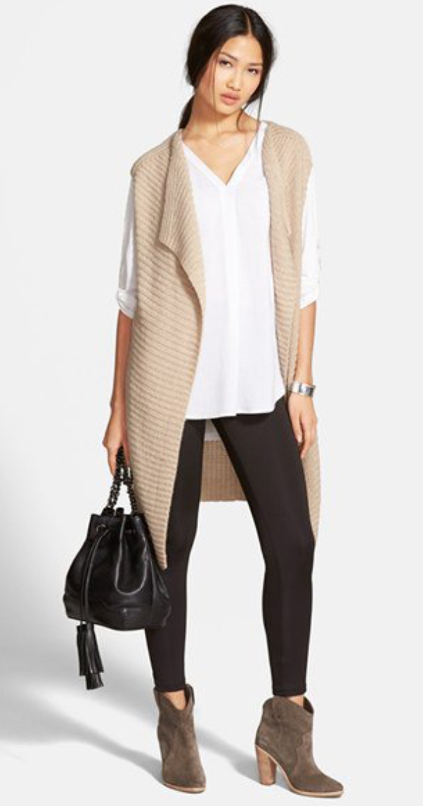 black-leggings-white-top-blouse-tan-vest-knit-black-bag-pony-tan-shoe-booties-wear-style-fashion-fall-winter-brun-lunch.jpg