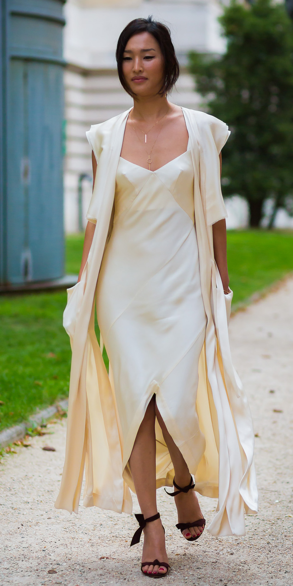white-dress-slip-silk-white-vest-knit-maxi-brun-necklace-black-shoe-sandalh-spring-summer-dinner.jpg