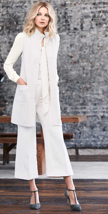 white-culottes-pants-white-top-blouse-white-vest-knit-blonde-fall-winter-style-fashion-wear-gray-shoe-pumps-office-work.jpg