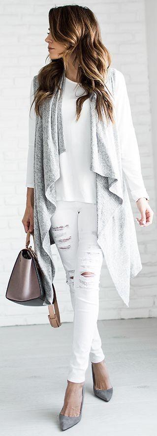 white-skinny-jeans-white-tee-grayl-vest-knit-hairr-tonal-gray-shoe-pumps-fall-winter-lunch.jpg