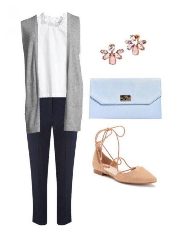 blue-navy-slim-pants-white-top-tan-shoe-flats-blue-bag-clutch-studs-grayl-vest-knit-spring-summer-work.jpg