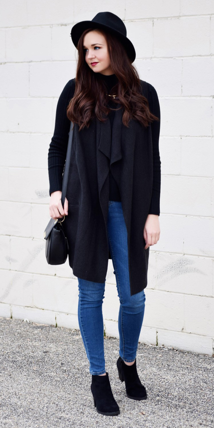 blue-med-skinny-jeans-black-sweater-turtleneck-hat-brun-black-vest-knit-black-shoe-booties-black-bag-fall-winter-weekend.jpg