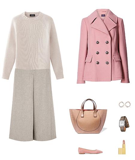 white-aline-skirt-white-sweater-tan-bag-tote-watch-pink-shoe-flats-pink-light-jacket-coat-peacoat-fall-winter-work.jpg