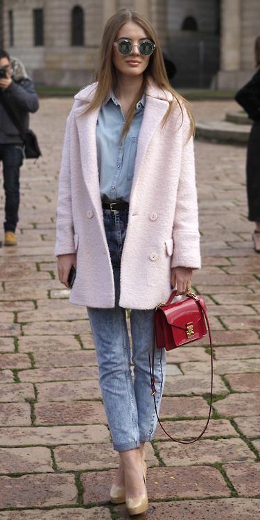 blue-light-skinny-jeans-blue-light-collared-shirt-red-bag-tan-shoe-pumps-sun-hairr-pink-light-jacket-coat-peacoat-fall-winter-lunch.jpg