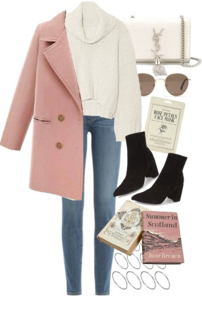 blue-med-skinny-jeans-black-shoe-booties-white-sweater-turtleneck-sun-white-bag-pink-light-jacket-coat-peacoat-fall-winter-lunch.jpg