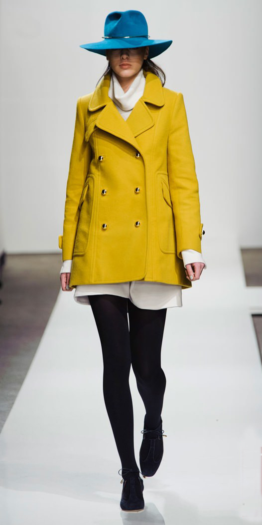 white-mini-skirt-white-sweater-turtleneck-peacoat-fall-winter-white-yellow-jacket-coat-hat-black-tights-black-shoe-booties-lunch.jpg