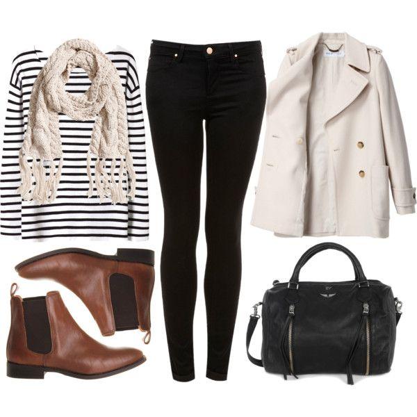 black-tee-stripe-white-scarf-black-bag-black-skinny-jeans-brown-shoe-booties-white-jacket-coat-peacoat-fall-winter-weekend.jpg