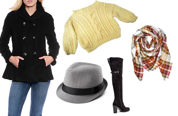 blue-med-skinny-jeans-hat-black-shoe-boots-orange-scarf-plaid-yellow-sweater-black-jacket-coat-peacoat-fall-winter-lunch.jpg