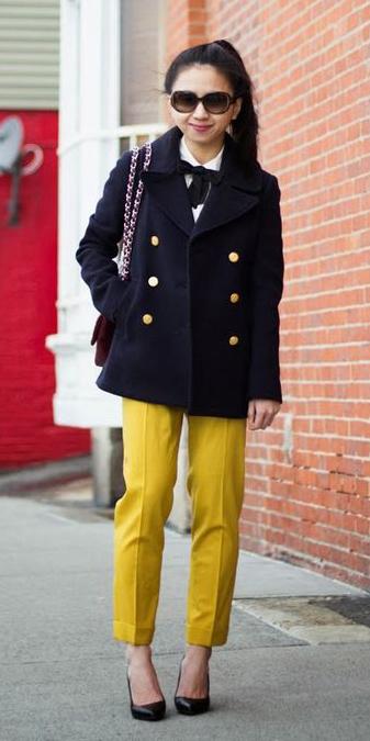 yellow-slim-pants-brun-pony-black-shoe-pumps-black-jacket-coat-peacoat-fall-winter-lunch.jpg