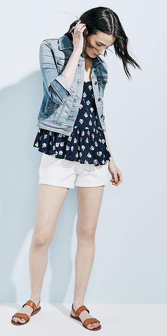 white-shorts-blue-navy-top-print-blue-light-jacket-jean-cognac-shoe-sandals-howtowear-fashion-style-outfit-spring-summer-denim-brun-weekend.jpg